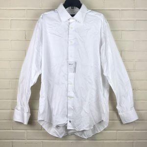 David Donahue White Dress Shirt